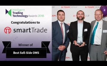 smartTrade wins the Best Sell Side OMS Award at the 2018 ITT Awards
